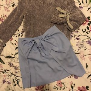 Blue Skirt with Knot